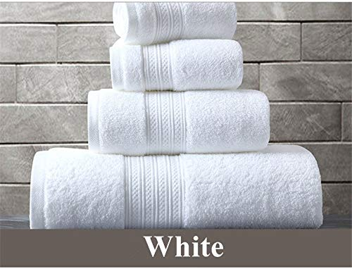 YXFYXF 150 * 80 cm 100% algodón Toalla de baño Super Absorbente Toalla Toalla Turgida Toallas de baño de Gran Crecimiento Toalla (Color: Blanco, Tamaño: 33x33cm) (Color : White, Size : 33x33cm)