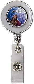 Farscape Crew Zhaan and Ka D'Argo Aliens Retractable Reel Chrome Badge ID Card Holder Clip