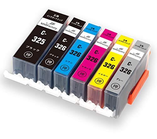 キヤノンインクカートリッジ326 canonインク326 互換インク BCI-325XL+BCI-326XL 6色 純正と併用可 大容量 1年保証 PIXUS MG8230 MG8130 MG6230 MG6130【MXRFactory】 (6色マルチパック)
