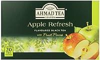 Ahmad Tea Apple Refresh Black Tea, 20-Count Tea Bags (Pack of 6) by Ahmad Tea