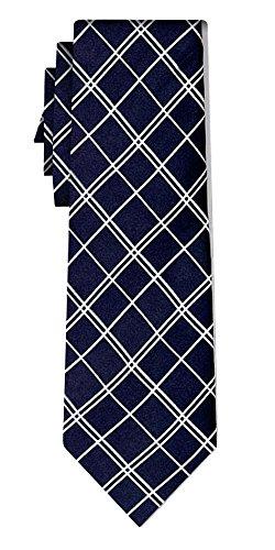 Cravate soie tartan pattern navy