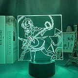 Lámpara 3D de luz nocturna LED de anime, luz nocturna LED RE-cero en otro mundo para decoración de habitaciones, regalo RE Null REM, lámpara 3D LYTLM