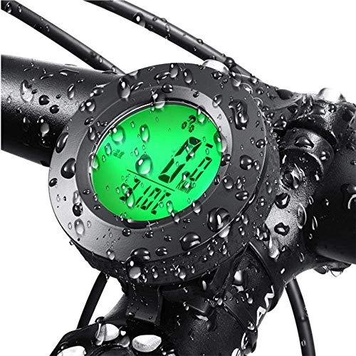 HKIASQ Fahrradcomputer Fahrradkilometer Drahtloser wasserdichter großer LCD-Bildschirm Fahrradcomputer Automatisches Aufwachen und Schlafen Multifunktion