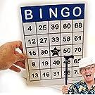 Jumbo Bingo Cards 100 Pc. Gloss Lamination 8.5 x 11 – Easy to read