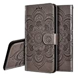 IMEIKONST PU Leather Case for LG K50 Mandala Embossed