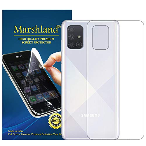 MARSHLAND TPU Back Screen Protector Anti Scratch Bubble Free Back Screen Guard Compatible for Samsung Galaxy A71 (Transparent)
