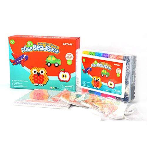 S-TROUBLE Perler Beads de 5mm, Juguetes para niños con Hojas de Plantilla...