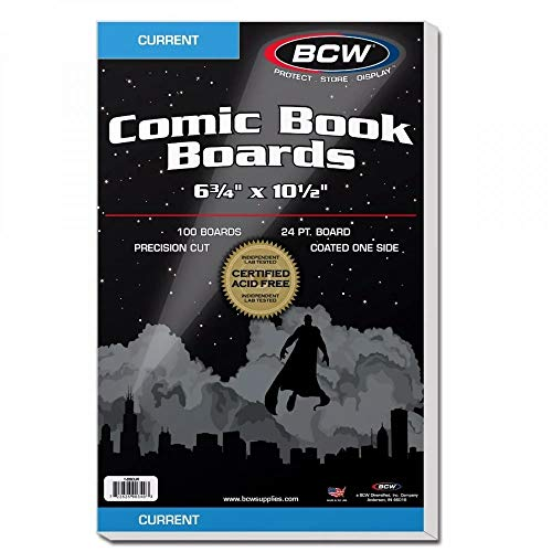 BCW Current Comic Book Backing Boards 500 Count for Comic Storage