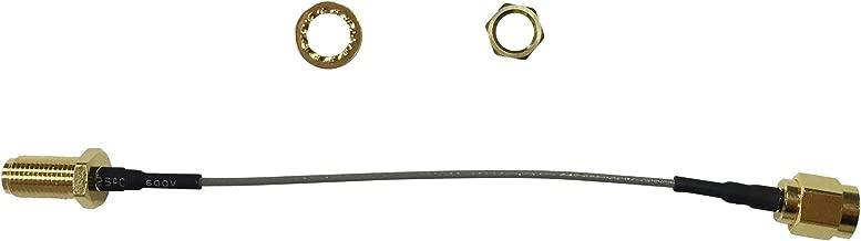 MC001047 - RF / Coaxial Cable Assembly, Double Screened, SMA RP Bulkhead Jack, SMA RP Straight Plug, 1.32mm (Pack of 2) (MC001047)