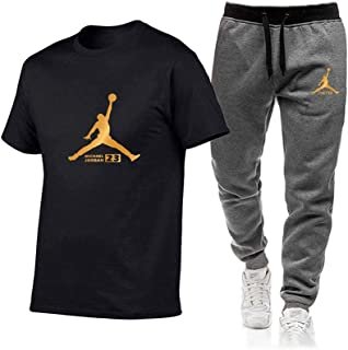 Alexo Breathable Running Tshirt Men top Sports Short Sleeve Tracksuit Bottoms Mens with Pockets Slim Fit Gym Fitness Trous...