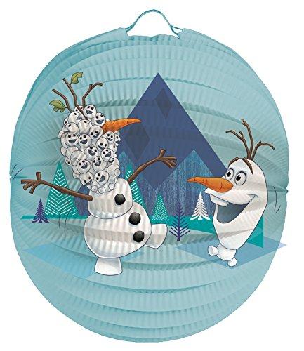 Frozen Olaf Laternenset Ballon-Laterne mit elektrischem Laternen-Stab ca. 49cm und Papier-Lampion ca. 25cm für Kinder