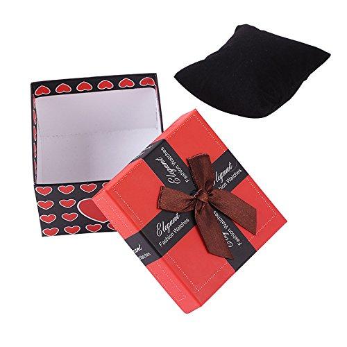 Bodhi2000® - Caja de regalo con lazo para pulsera y reloj de viaje, caja de almacenamiento