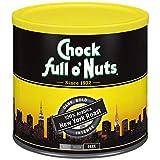Chock Full o'Nuts New York Roast Ground Coffee, Dark Roast - 100% Premium Arabica Coffee Beans – Bold, Full-Bodied and Intense Flavored Dark Blend, 23 ounces