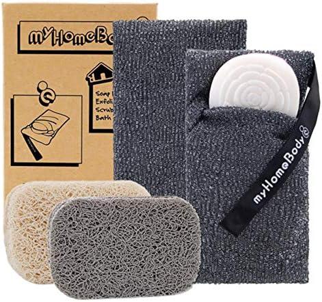 Soap Saver Pouch Exfoliating Sponge Soap Pocket Body Exfoliator Sponges for Bath or Shower Body product image
