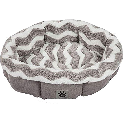 Precision Pet by Petmate SnooZZy Zig Zag Shearling Round Pet Bed for Comfort and Support - 42701