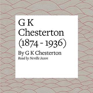 G K Chesterton (1874 - 1936) audiobook cover art