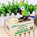 1pc Que Come Creativo De La Moneda del Pájaro del Loro Hucha Caja De Dinero De Hucha, Caja De Dinero para Los Niños, Robot Eléctrico del Pájaro del Dinero De Banco Decoración De Ahorro De Dinero
