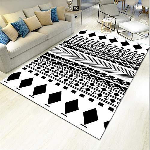 SONGHJ Alfombra De Poliéster Geométrico Abstracto Impreso Sofá Rectangular Manta De Mesa De Café Alfombra De La Habitación del Hogar G 120X160cm