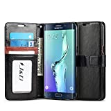 J&D Case Compatible for Galaxy S6 Edge Plus Case, [Wallet Stand] [Slim Fit] Heavy Duty Protective Shockproof Flip Wallet Case for Samsung Galaxy S6 Edge Plus Wallet Case - [Not for Galaxy S6/S6 Edge]