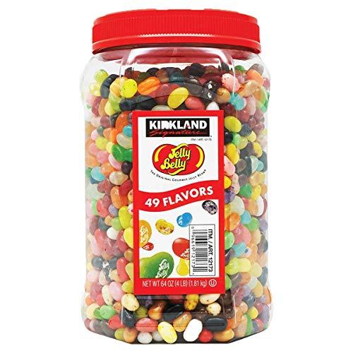 Kirkland Signature Jelly Belly 49 Flavors Of The Original Gourmet Jelly Bean - 4 Lb (64 Oz) Jar - Cos15, 2 Pack