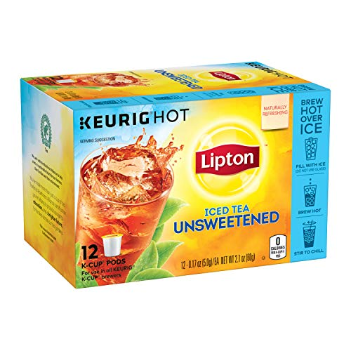 Lipton Iced Tea K-Cups for Keurig Brewers Unsweetened Sugar Free 12...
