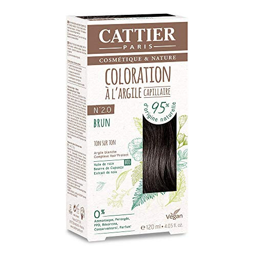 Cattier Kit Coloration Capillaire à l'Argile - N°2.0 Brun