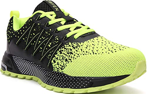 SOLLOMENSI Zapatillas de Deporte Hombres Mujer Running Zapatos para Correr Gimnasio Sneakers Deportivas Padel Transpirables Casual Montaña 43 EU H Verde