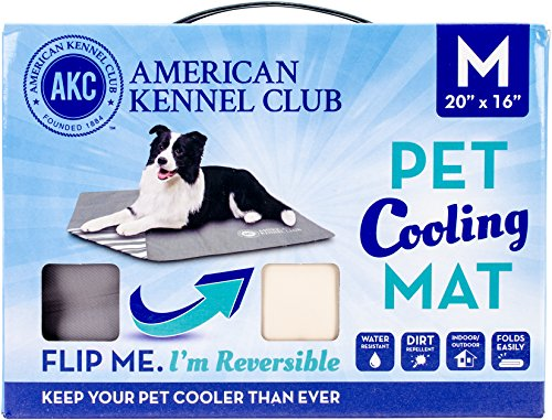 Bow Wow Pet American Kennel Club Reversible Cooling Mat, Solid, Gray, 20 x...