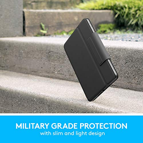 Logitech Rugged Folio Ultimate Protective Keyboard Case with Smart Connector and Durable Spill Proof Keyboard for iPad 7th Gen & 8th Gen-10.2″ Inch (Model: A2197, A2198 & A2200)
