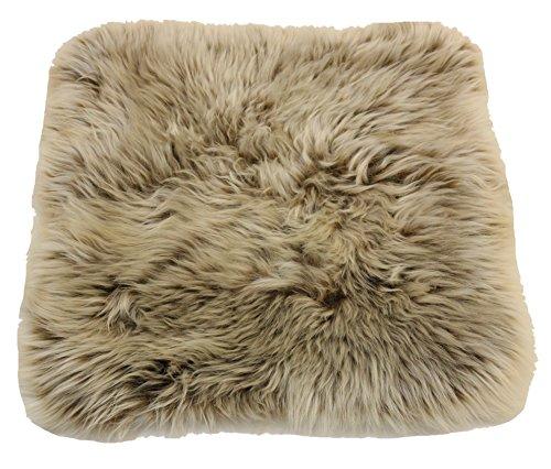 Reissner Lammfelle Engel Naturfelle Sitzauflage DIANA-40-CAP aus Lammfell hochwollig quadratisch 40x40cm, Cappuccino