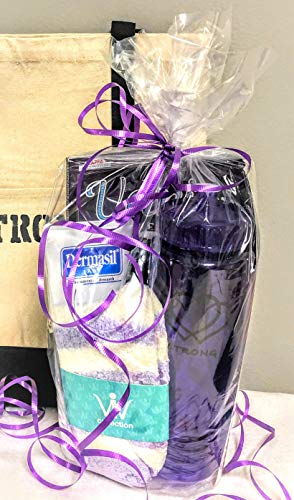 Get Well Soon Cancer Care Package for Women Comfort Gift for Chemo Patient or Any Woman in The Hospital or Ill - Encouragement to Be Strong (Purple Represents All Cancers)