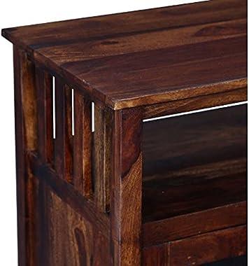 Shilpi Wooden Handmade Sheesham Wood Multipurpose Storage Cabinet (Without Glass)