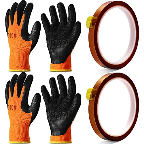 2 Pairs Heat Resistant Gloves Heat Transfer Machine Gloves Heat Work Gloves for Sublimation with 2...