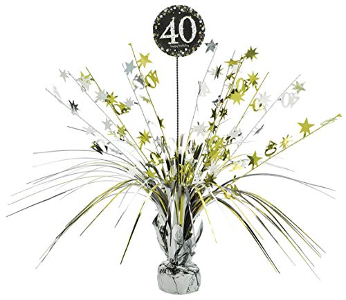 Amscan 110294 - Tischdekoration 40 Sparkling Celebration, Größe 45,7 cm, Geburtstag
