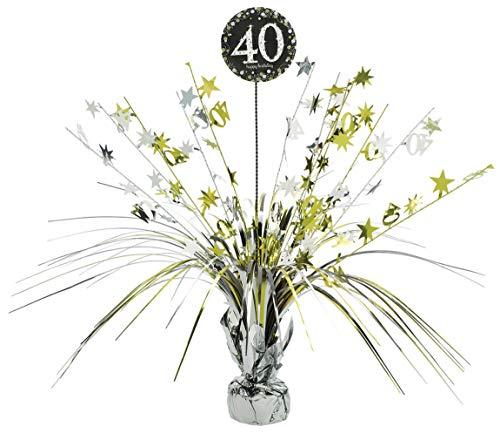 amscan 110294 Tischdekoration 40 Sparkling Celebration, Silber & Gold, Einheitsgröße