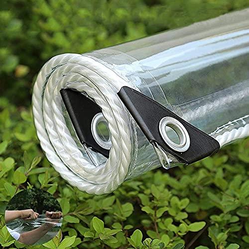 Lona Transparente Impermeable Exterior, Lona de protección con Ojales para Muebles de jardín, Piscina, Coche, Lona de protección Impermeable y Resistente a la Rotura,A_2.3x2.5m