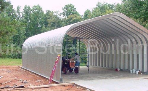 Duro Span Steel G25x30x13 Metal Building Kit Direct Residential Drive Through Carport Garage