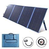 SARONIC Kit de Paneles solares Plegables de 200 W y 12 V monocristalinos con un Controlador de Carga Solar de 15 A para Camper, caravaning, autocaravanas, oficinas móviles Carga de batería de 12 v
