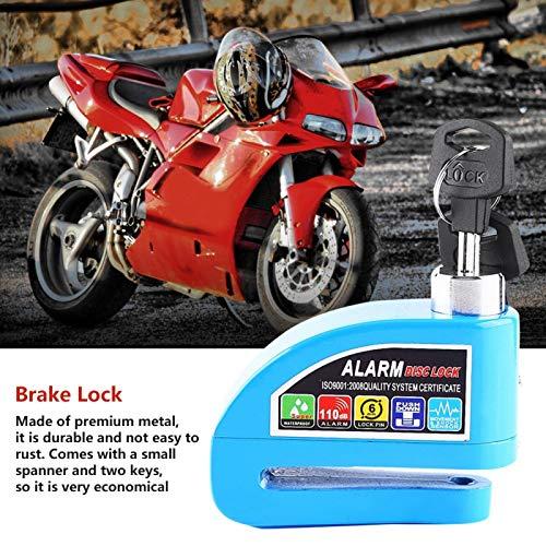 Bloqueo de disco, bloqueo antirrobo, alarma de bicicleta Bloqueo de motocicleta Sistema de alarma de seguridad Bloqueo de freno de disco de motocicleta para vehículos(green)
