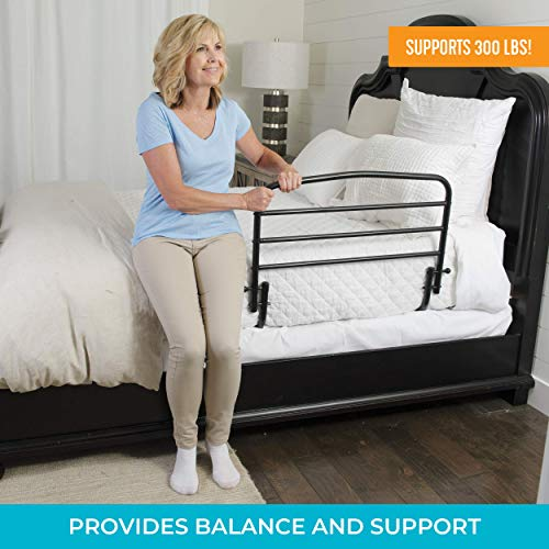 """Stander 30"""" Safety Bed Rail, Adjustable Bed Rail for Elderly Adults, Bed Safety Rail"""