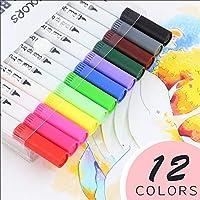 Tickas 水彩ファインライナーデュアルチップブラシペンセット、水彩のファインライナーデュアルチップブラシペンセットカラフルなマーカーで描画と絵画
