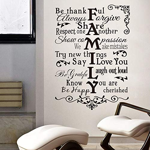 Wall Sticker Decor Living Room Decals Quote vinyl Wall Decal DIY Wall Lettering Art Words Wall Sticker Home Decoration