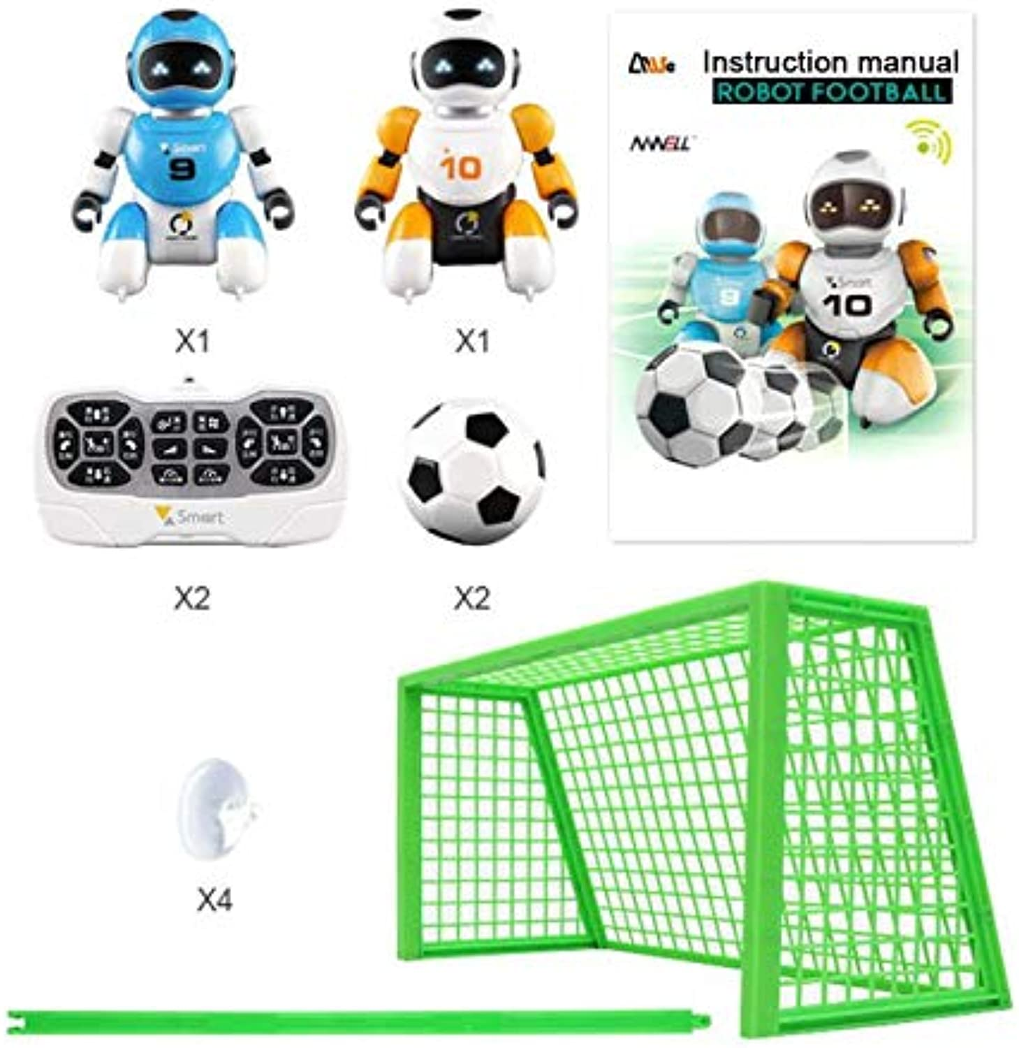 Generic 1 Set Smart USB Charging Remote Control Soccer Robot Toy Singing and Dancing Simulation RC Intelligent Football Robots Toys As Show
