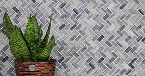 Mozaïek tegel marmer natuursteen grijs visgraat lijn grijs gepolijst MOSSopo-HB-V15_m