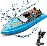Gizmovine Barco Teledirigido para Piscinas y Lagos , RC Barco de Alta Velocidad de 2.4GHz , Juguetes del Barco Que Compiten con de la Aventura para Los Muchachos y Las Muchachas
