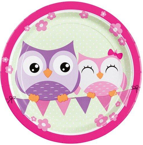 8 Teller * EULEN * für Party und Geburtstag // Eule Owl Kindergeburtstag Pappteller Partyteller Mottoparty