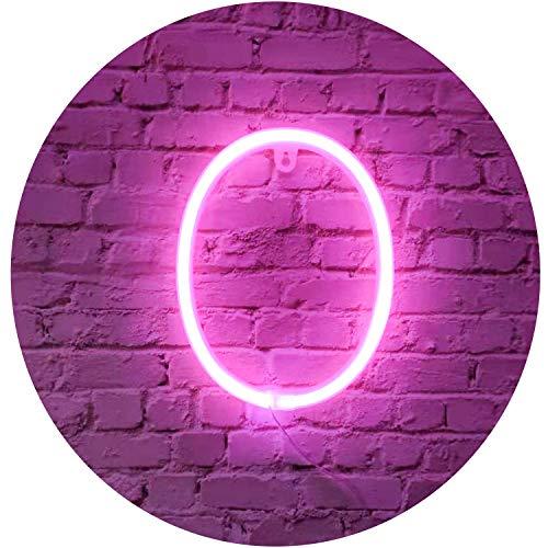 Rose Néon Lettre Signes Nuit Lumière LED Marquee Lettres Néon Art Décoratif Lumières Mur Décor pour Enfants Chambre De Bébé De Noël Fête De Mariage Décoration (O)