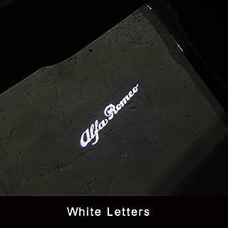 QHCP Car Door Welcome lights LED Door Warning Light Projector Light For Alfa Romeo Giulia Stelvio(Logo Customizable) (White)