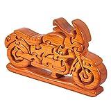Gracelaza Motorrad Denksportaufgaben Cube - Holzspielzeug - Knobelspiel - 3D Puzzle - Geduldspiel...