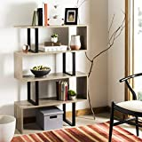Safavieh Home Collection Louise Retro Mid Century Wood Etagere, Oak and Black
